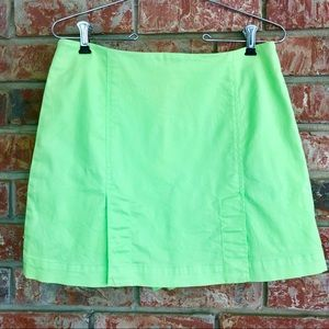 Vintage Eric Casual Green Skort